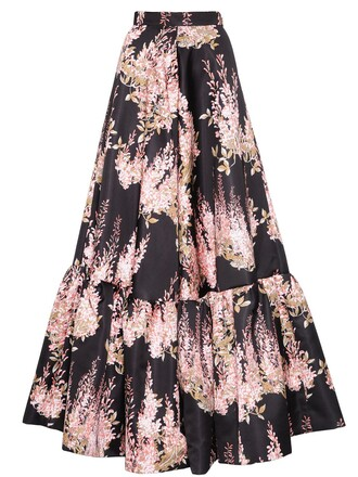 skirt floral black pink