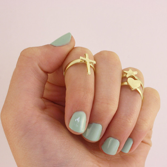 religion summer outfits jewels gold heart midi middle 2014 cute gold jewlery cross stars ring gold rings gold midi rings knuckle ring fingers spring fall outfits metal spring 2014 cute rings sky saint pastel
