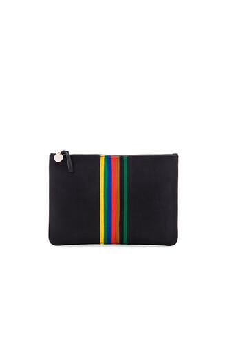 rainbow clutch black bag