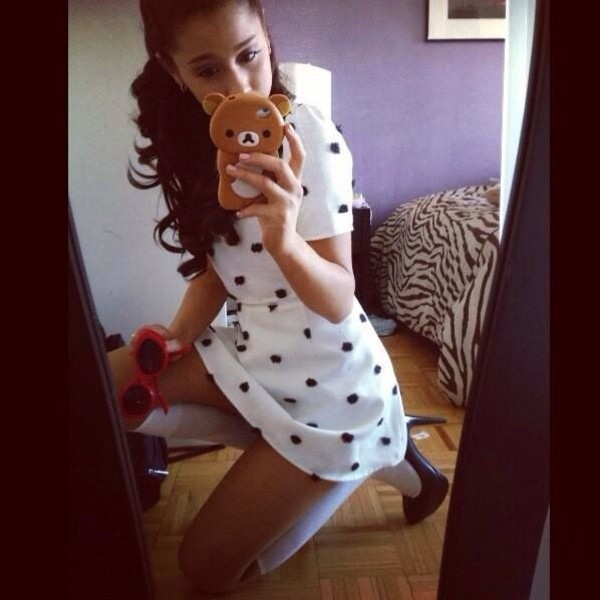 dress ariana grande polka dots