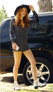 romper,fringes,bella thorne,shoes,coachella,boho