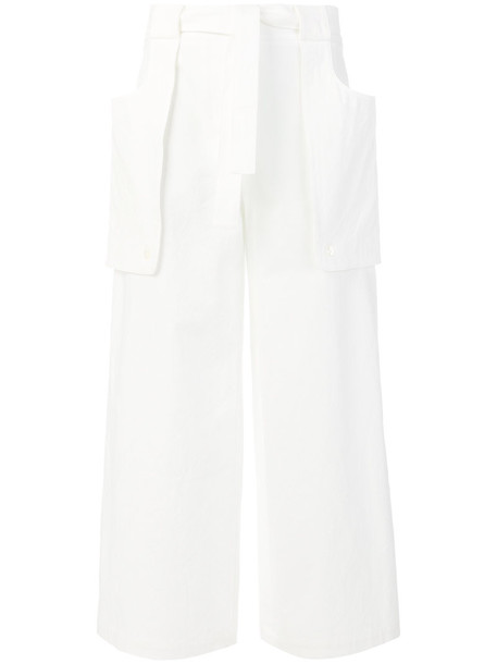 Thom Browne women white cotton pants