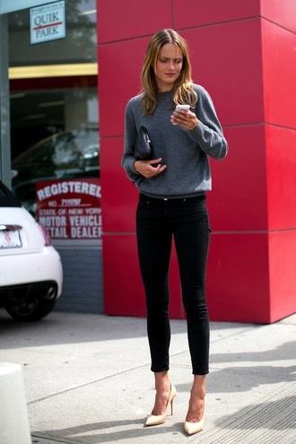 shoes nude nude heels heels high heels black jeans black pants