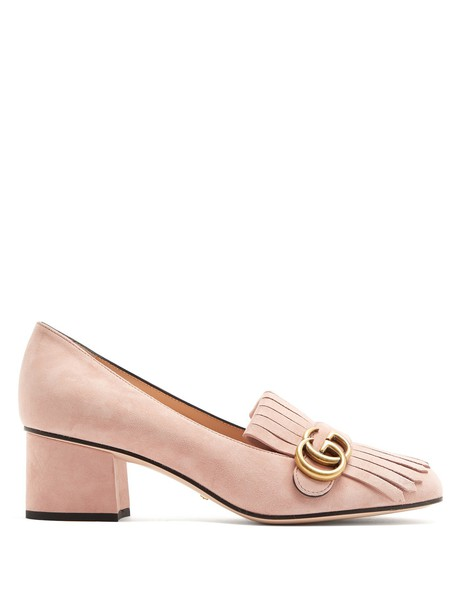 gucci loafers suede light pink light pink shoes