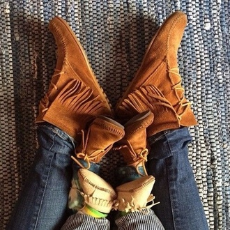 moccasins short boots