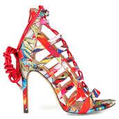 shoes,heels,multicolor,sandal heels,high heel sandals,open toes,colorful,funny,trendy,spring