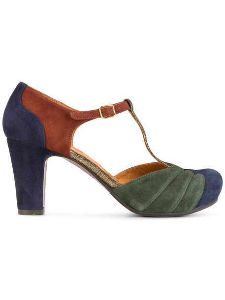 Chie Mihara women pumps leather suede brown shoes