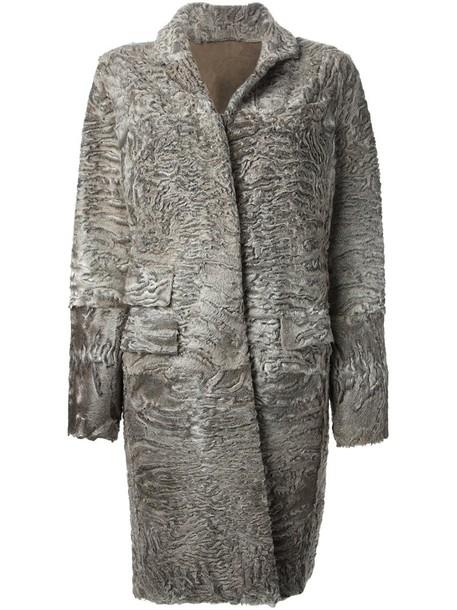 Liska coat fur women grey