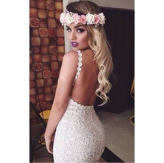 dress needed cream dress lace dress bodycon dress floral dress flowers dress
