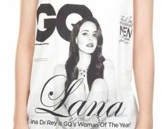 t-shirt lana del rey white tank top shirt gq magazine cover editorial