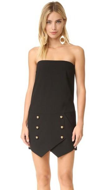 Michelle Mason Strapless Mini Dress - Black