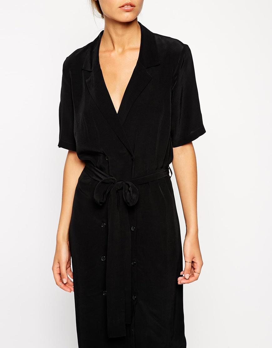 ASOS Shirt Dress With Belt at asos.com