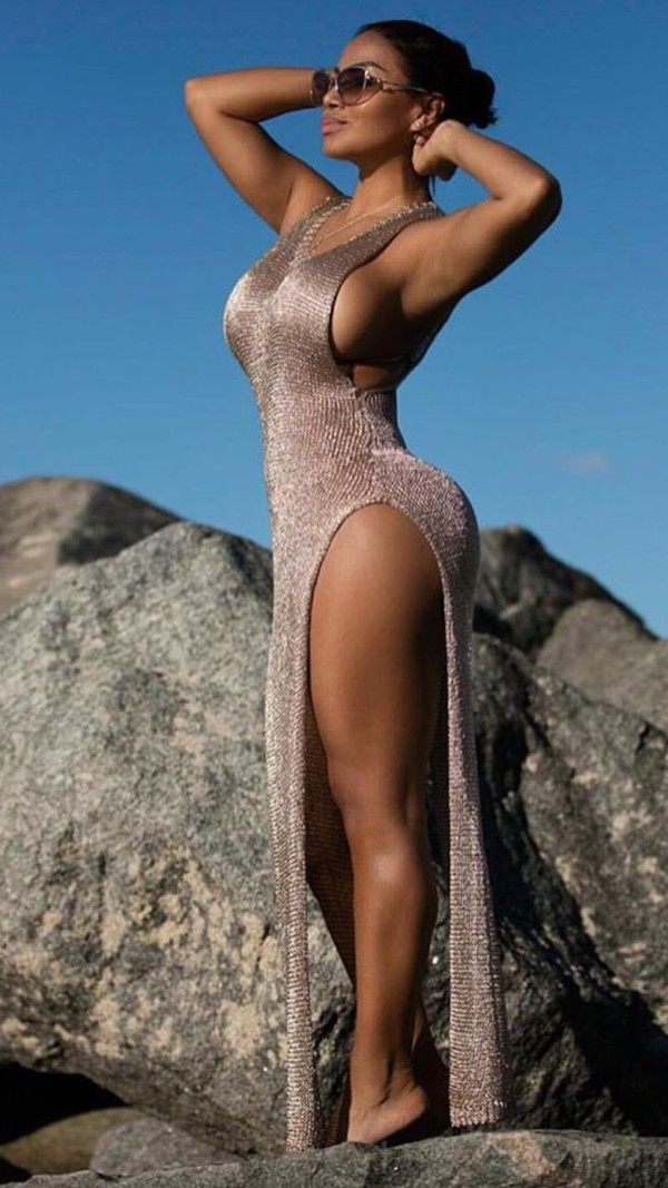 Dubai Cover Up Dress Rose Gold Fashion Nova