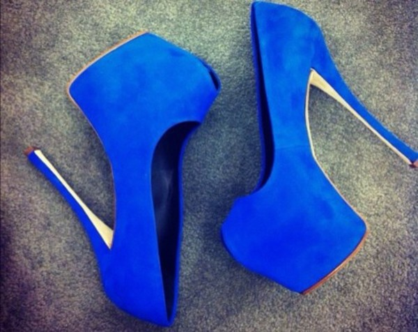 shoes high heels blue fashion summer blue high heels