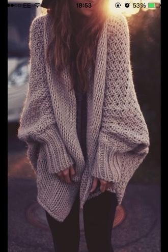 cardigan beige thick girls wool girly winter sweater long sleeves