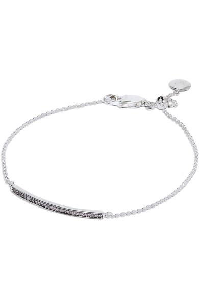 Monica Vinader - Sterling silver diamond bracelet