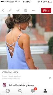 shirt,tank top,dress,light,crossed,blue purple,straps,crossed back