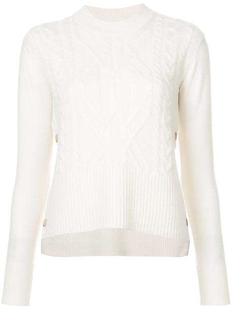 jumper women white knit sweater
