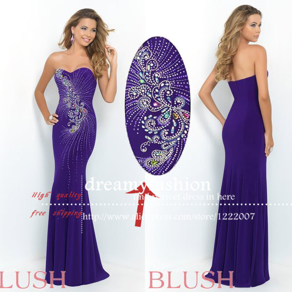 Aliexpress.com : buy elegant 2015 sweetheart neckline with beaded crystal evening gown sexy long mermaid formal party dresses vestido de festa from reliable neckline exercises suppliers on dreamyfashion