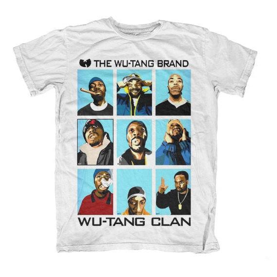 Wu Tang Brand Wu Tang Clan T Shirt ODB Skyline Rap HipHop Funny Tee S M L XL Clan 36 Chambers Cream Gravel Pit RZO Ghostface One Influence