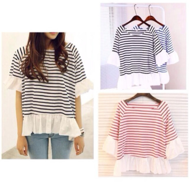 shirt stripes striped shirt t-shirt