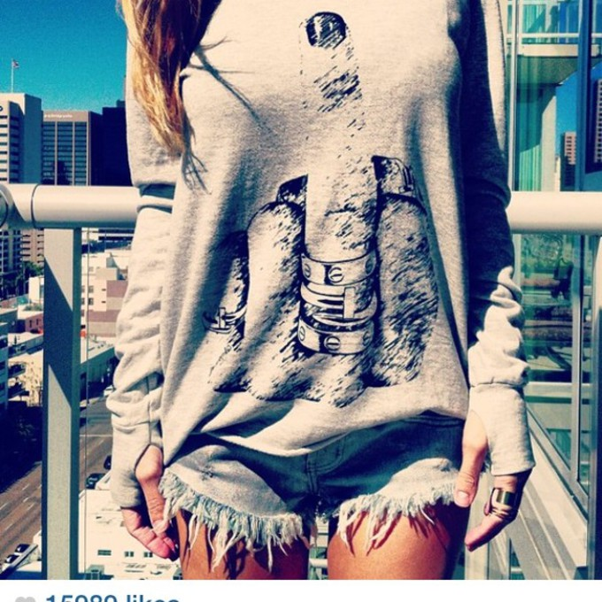 middle finger sweater grey knitted sweater oversized sweater the middle