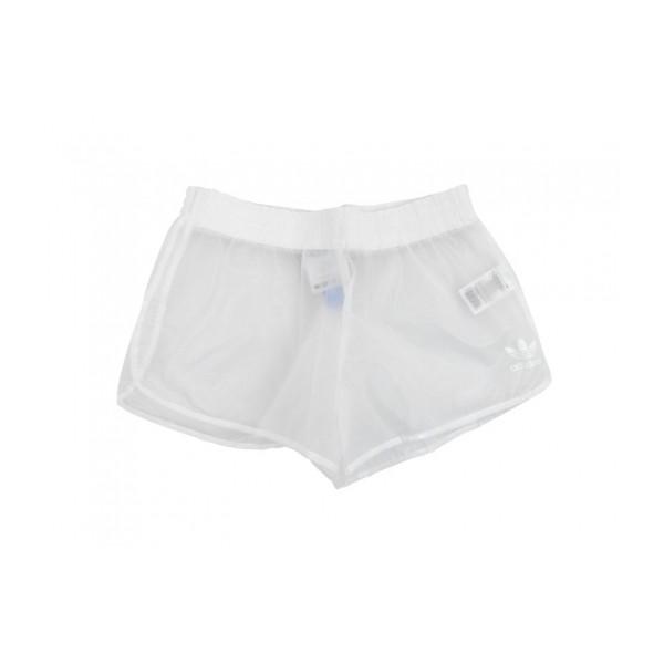 Adidas obyo jeremy scott clear plastic shorts (clear/white)
