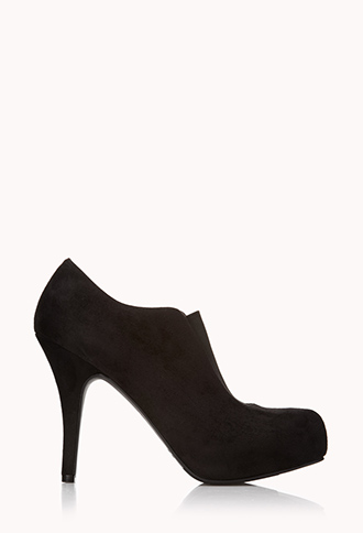 Sleek Faux Suede Booties | FOREVER21 - 2000050558
