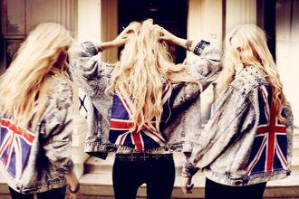 jacket denim jacket union jack
