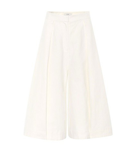 CO culottes cotton white pants