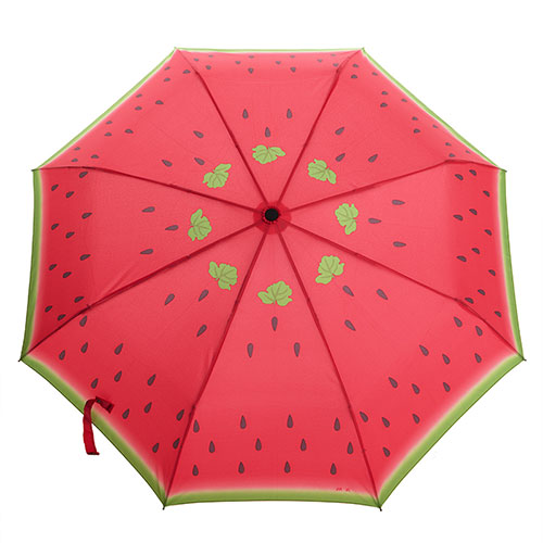 Watermelon Print Compact Folding Umbrella For Rain [grxjy52300004] on Luulla