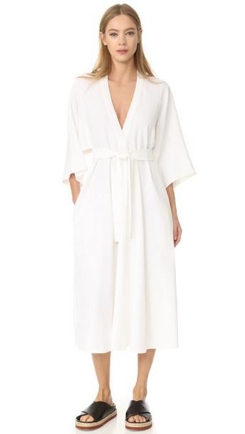 Tome V Neck Shirtdress - White