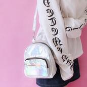 bag,girly,girly wishlist,holographic,holographic bag,mini,mini bag,shoulder bag