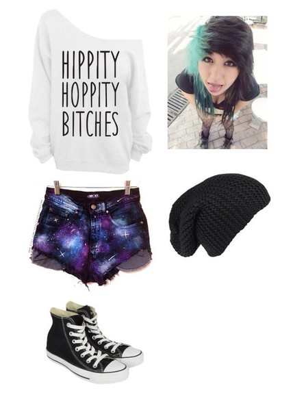 galaxy print galaxy shorts black shorts cute shorts grunge top must need cute sweaters