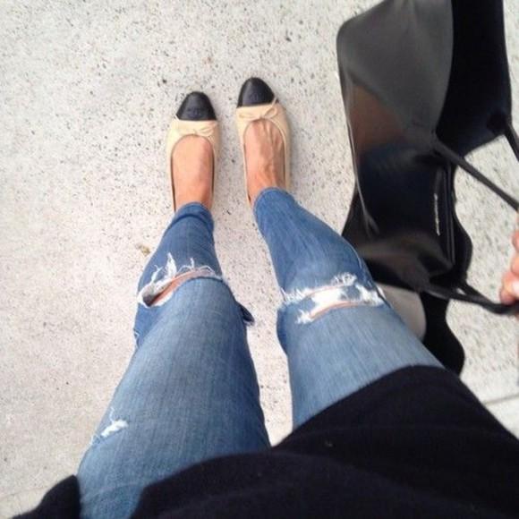 shoes flats jeans cute pants