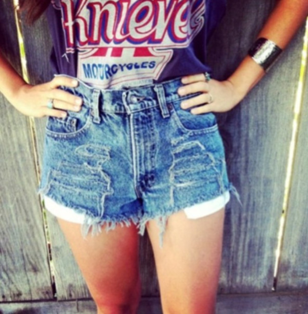 top t-shirt t-shirt motorcycle tumblr cute retro shorts ripped ripped vintage