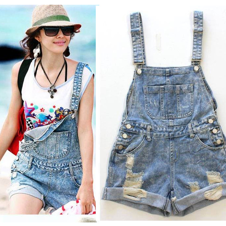 Available!!2013 New Fashion women denim shorts with suspenders, hot pants loose big pockets sweet jeans overalls jumpsuits-inJumpsuits & Rompers from Apparel & Accessories on Aliexpress.com
