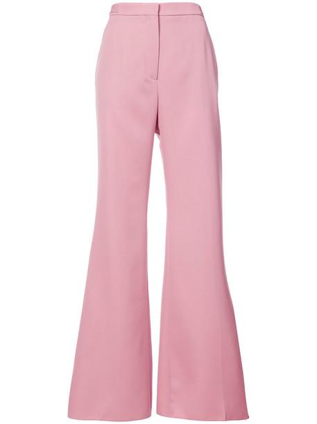 Rochas women wool purple pink pants