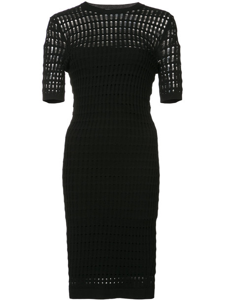 T by Alexander Wang dress women laser cut black
