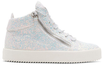 glitter high london sneakers white shoes