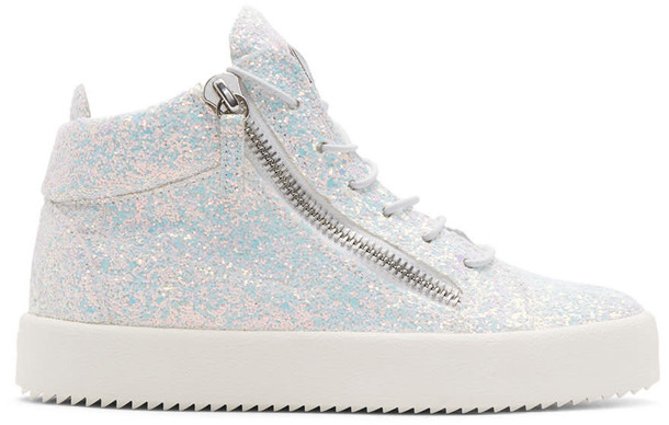 Giuseppe Zanotti glitter high london sneakers white shoes