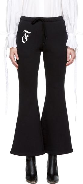 Facetasm pants flare black