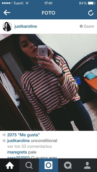 sweater tumblr tumblr outfit tumblr shirt striped shirt fall sweater winter sweater where's waldo?