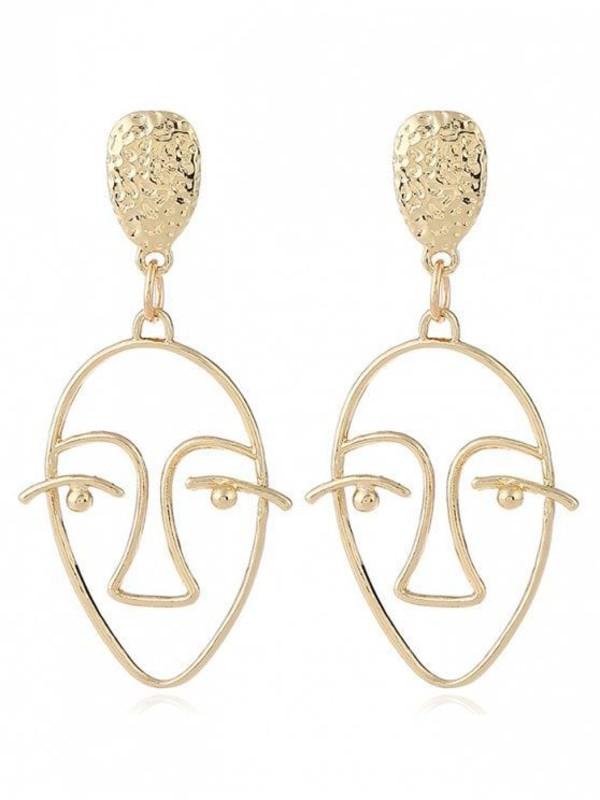 jewels earrings face earrings zaful