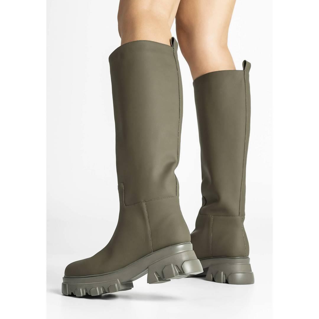 Dustin Khaki Wax Calf Boots