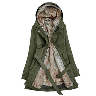 coat classic hood long