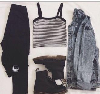 cardigan grunge jeans jacket black