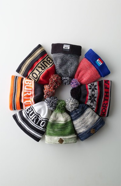 hat beany beanie colorful range burton wooly bobble bobble hat cotton stripes stripy