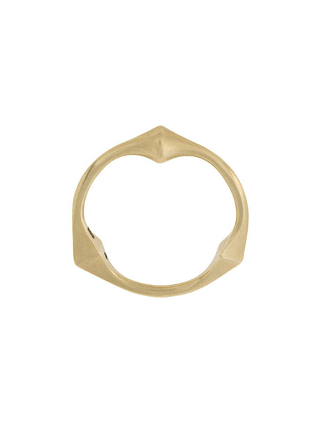 Savoir Joaillerie matte women ring gold grey metallic jewels