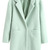 ROMWE | Lapel Buttoned Slim Sheer Light-green Woolen Coat, The Latest Street Fashion